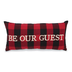 Be Our Guest Buffalo Plaid Pillow