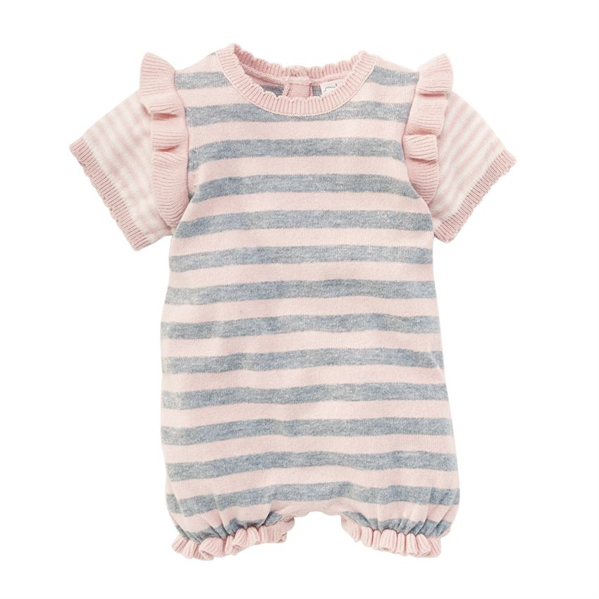 Pink Stripe Knitted Bubble