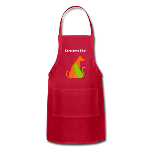 Image of Carnivore Chef Apron - red