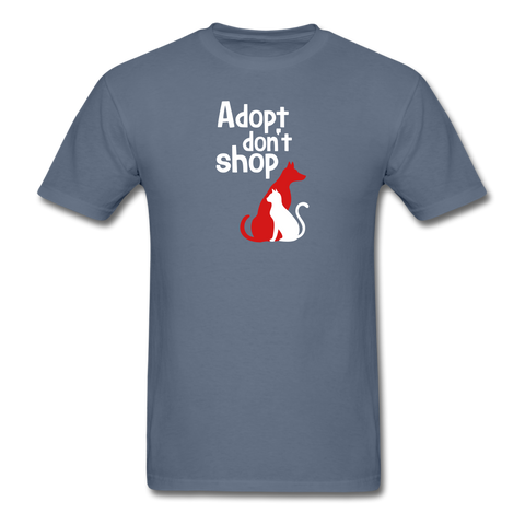 Adopt don't Shop Men's T-Shirt - denim