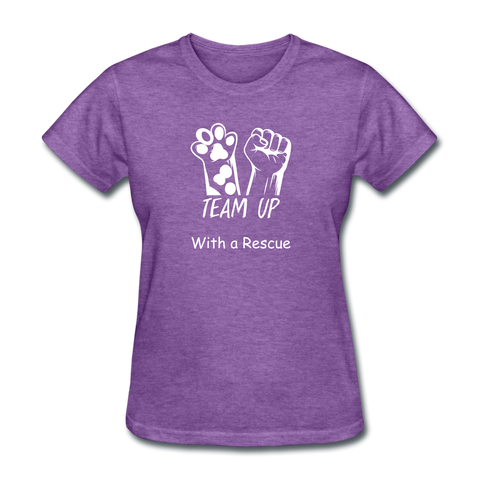 Team Up with a Rescue Women's T-Shirt - purple heather