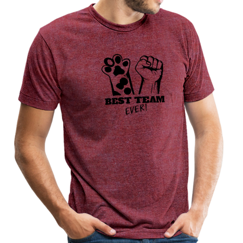 Image of Beast Feeding Ever Unisex Tri-Blend T-Shirt - heather cranberry