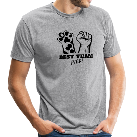 Image of Beast Feeding Ever Unisex Tri-Blend T-Shirt - heather gray