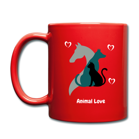 Image of Animal Love - Full Color Mug - red