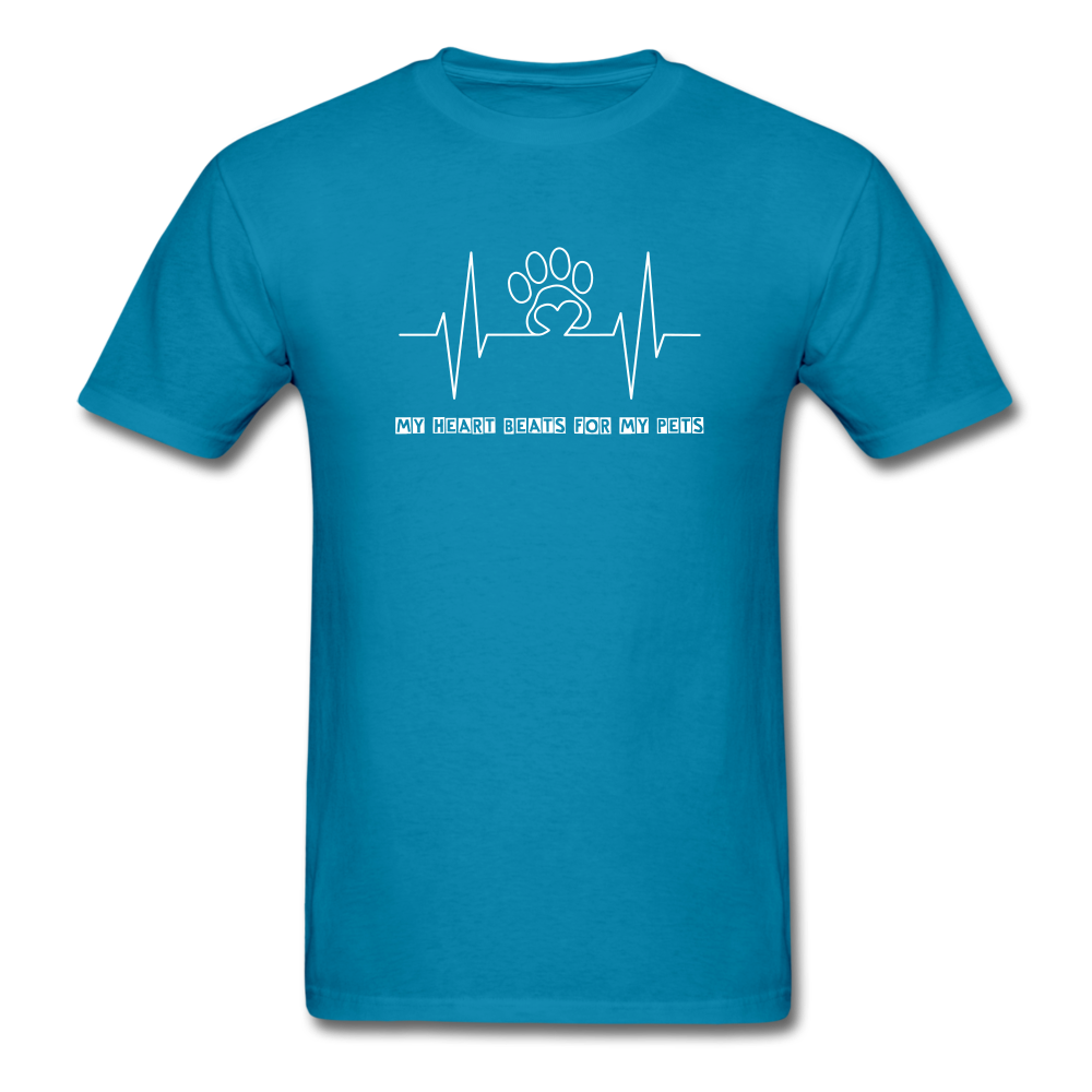 My Heart Beats for my Pets Men's T-Shirt - turquoise