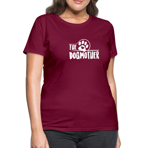 Image of The Dog Mother Women's T-Shirt - burgundy