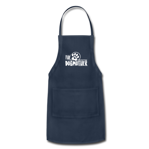 Image of The Dog Mother Apron Adjustable Apron - navy