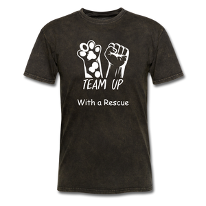 Team Up with a Rescue Men's T-Shirt - mineral black
