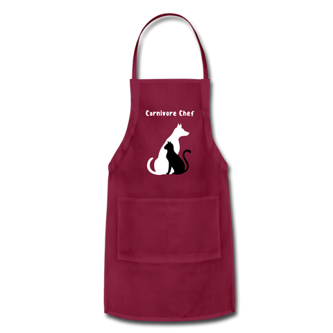 Image of Adjustable Apron - burgundy