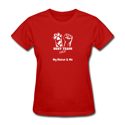 Beast Team Ever - My Rescue and Me - Women's T-Shirt - red