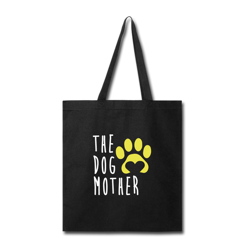 Image of The Dog Mother Tote Bag - black