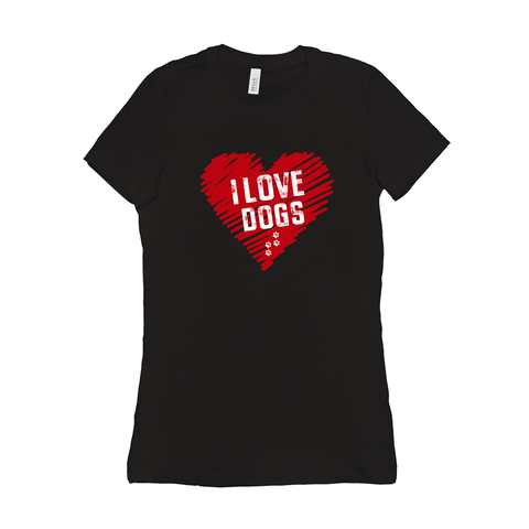 Image of I love Dogs Woman's T-Shirt