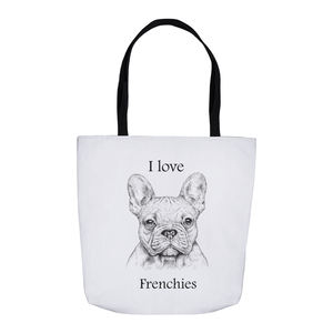 I love Frenchies Tote Bag