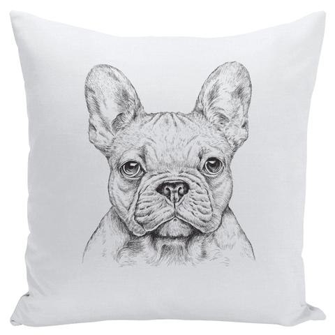 Image of French Bulldog Throw Pillows