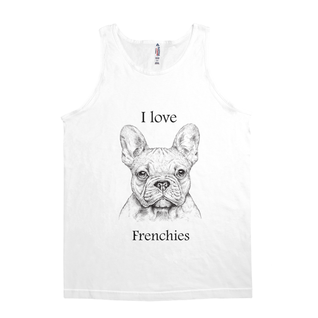 I love Frenchie Tank Top - Unisex