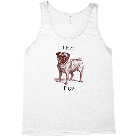 Image of I love Pugs Tank Tops (unisex)