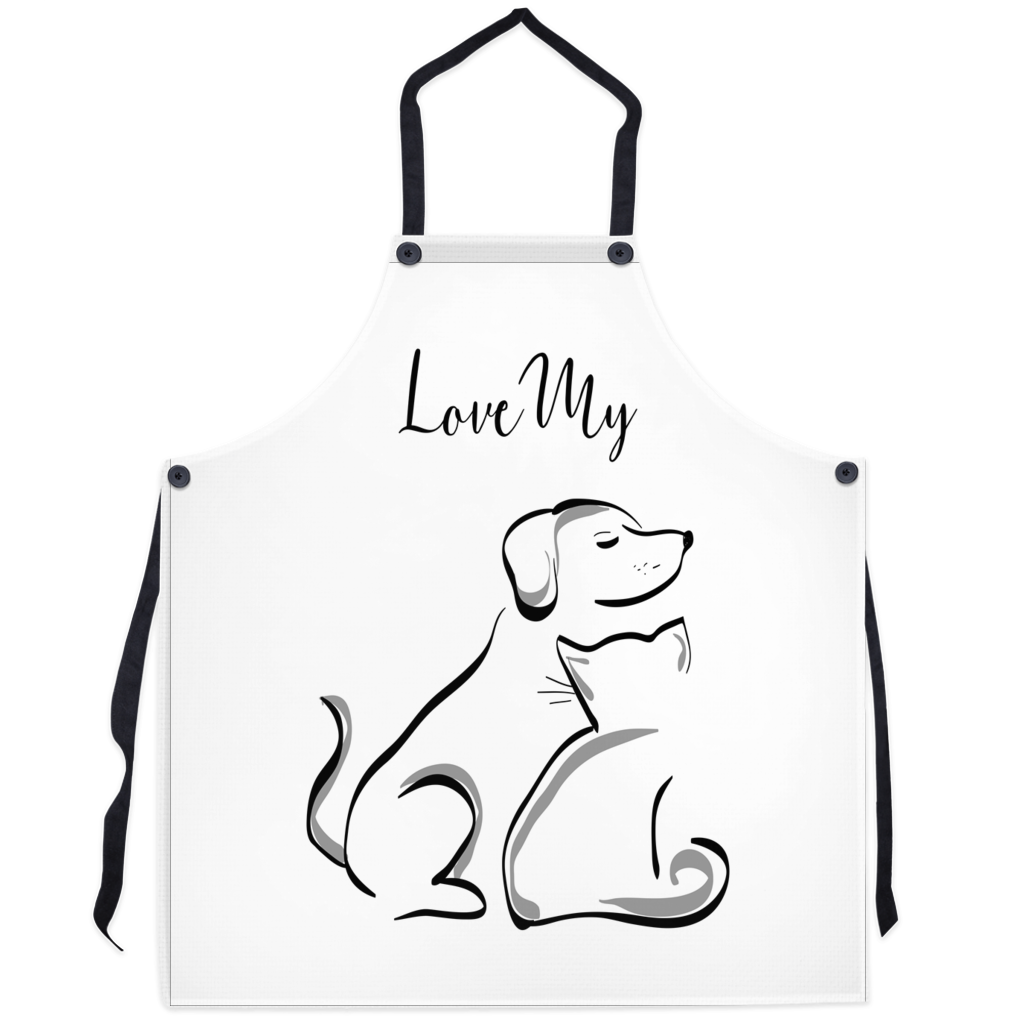 I love my Dog And cat - Aprons