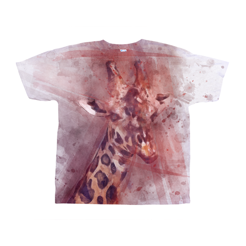 Image of Stunning Giraffe and Lion shirt All-Over Print T-Shirts