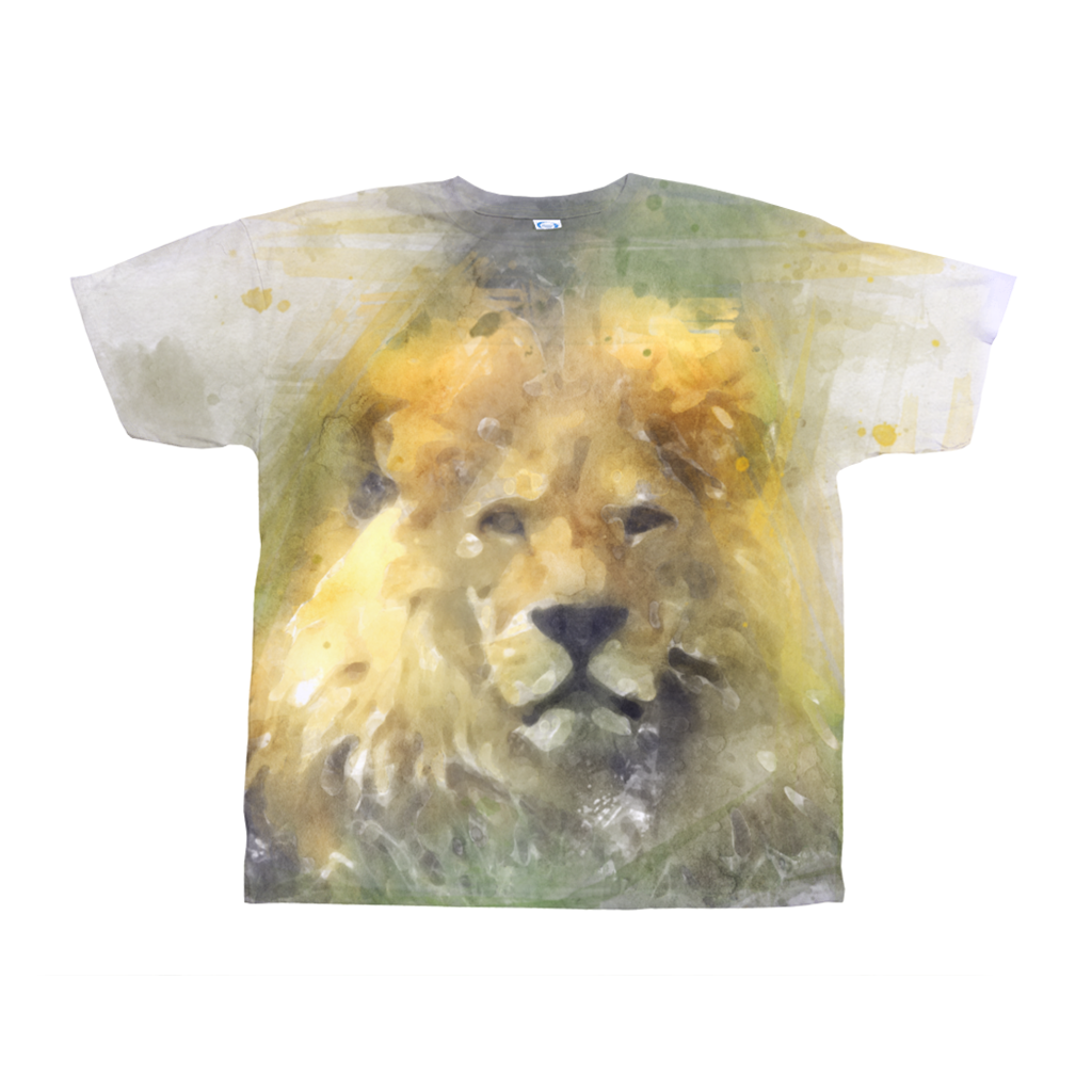 Lion and Giraffe All-Over Print T-Shirts