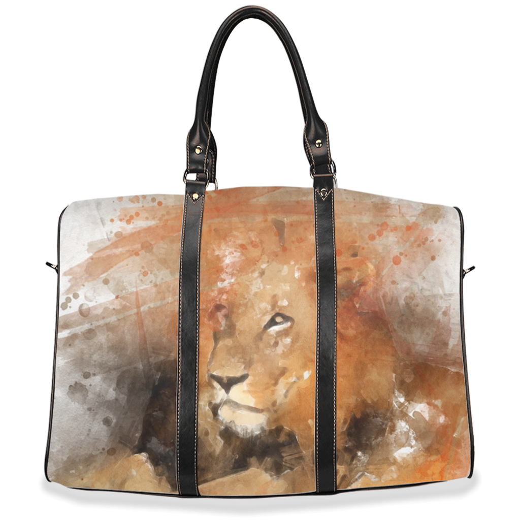 Travel Bags with Lion and Leopard Images