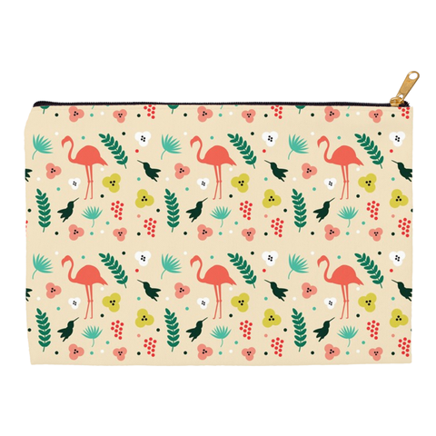 Image of Accessory Pouches with Flamingos