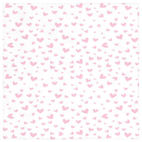Image of Pet Bandanas- Pink Hearts Design