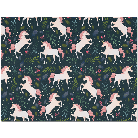 Image of Placemat with Pink Unicorn Design