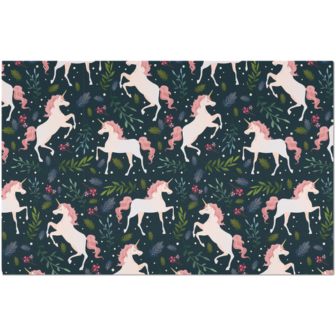 Placemat with Pink Unicorn Design