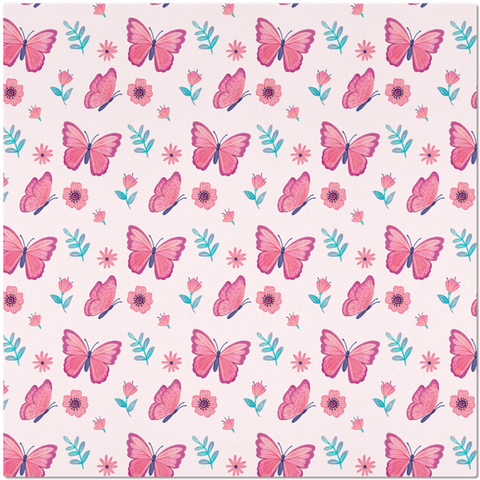 Image of Placemat with Pink Butterfly Design