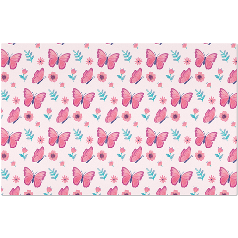 Placemat with Pink Butterfly Design