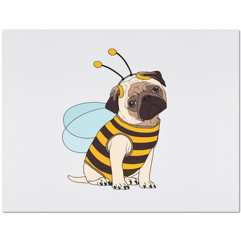 Placemat with Cute Pug Design