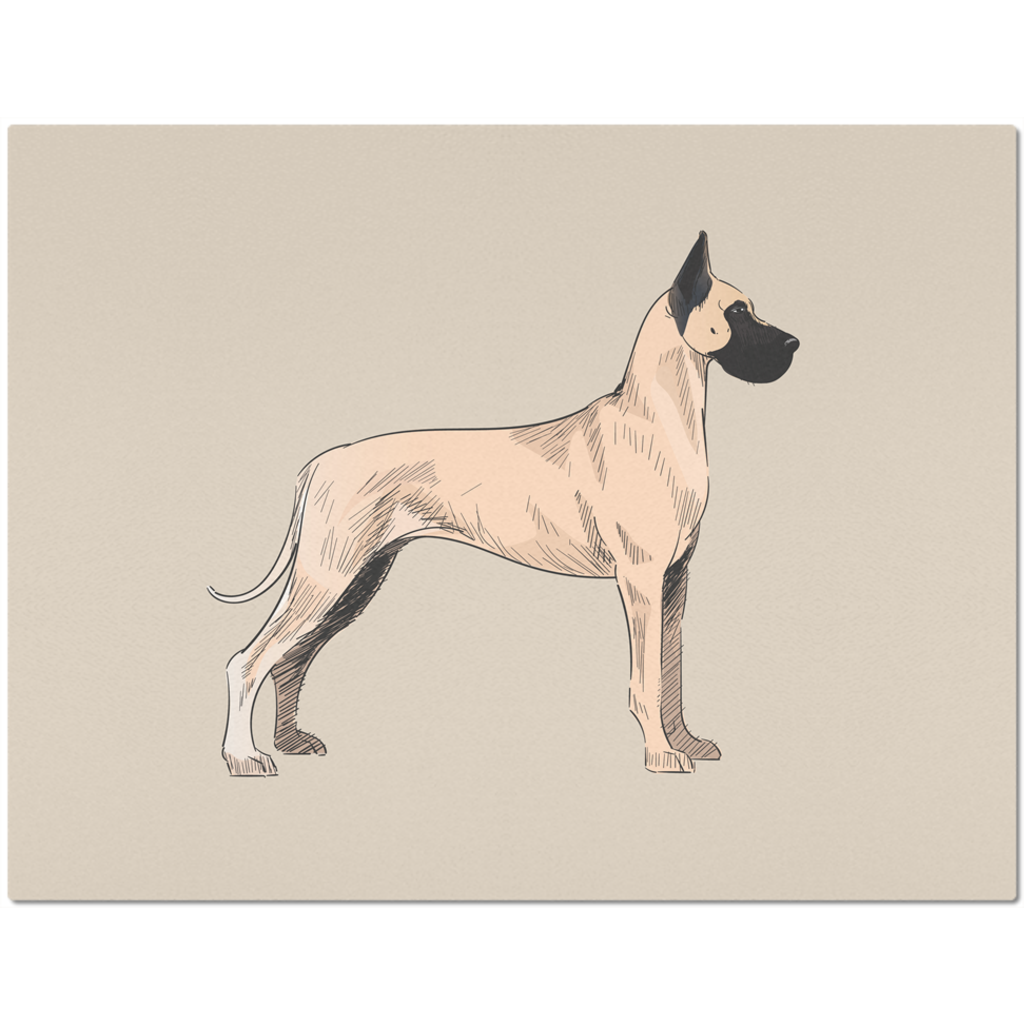 Placemat with Great Dane Design