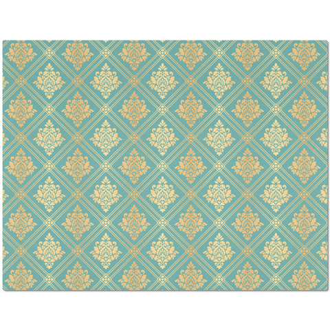 Image of Elegant Gold and Teal Pattern Placemat
