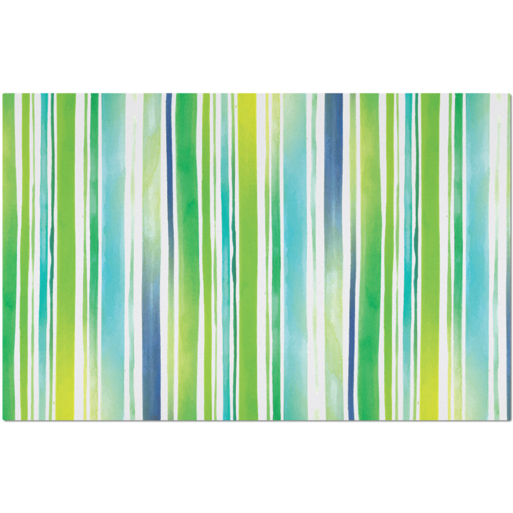 Placemat with Watercolor Stripes Design