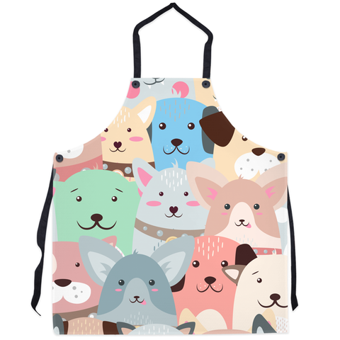 Smiley Dog Faces Aprons - Great  For Doge Lovers.