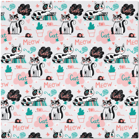 Image of Colorful Placemat for Cat Lovers