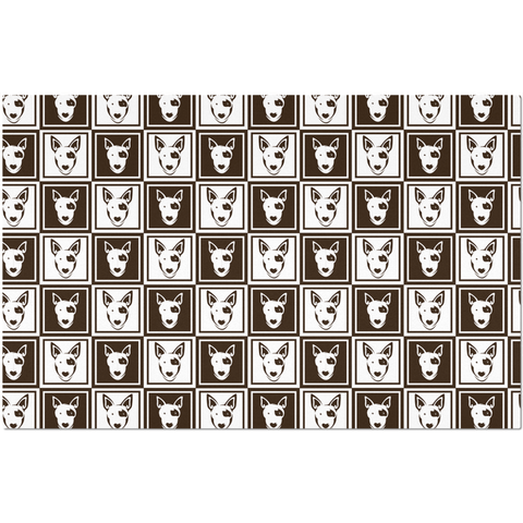 Image of Bull Terrier Pattern  Placemat