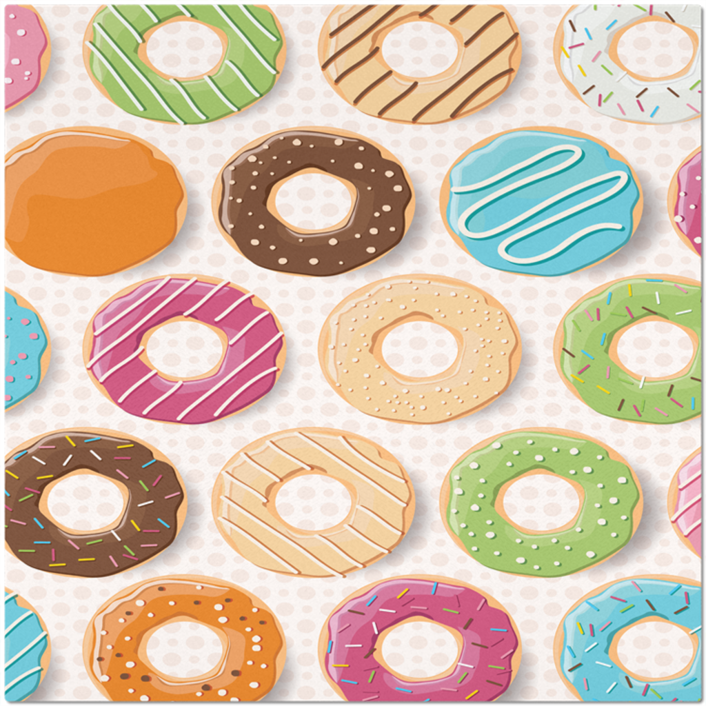 Colorful Donuts Placemat