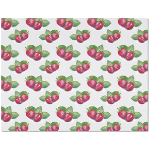Placemat with Strawberry Pattern