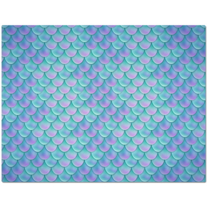 Blue Mermaid Scales Placemat