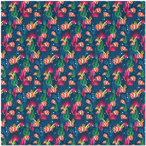 Under Water with Clown Fish Patter Placemat