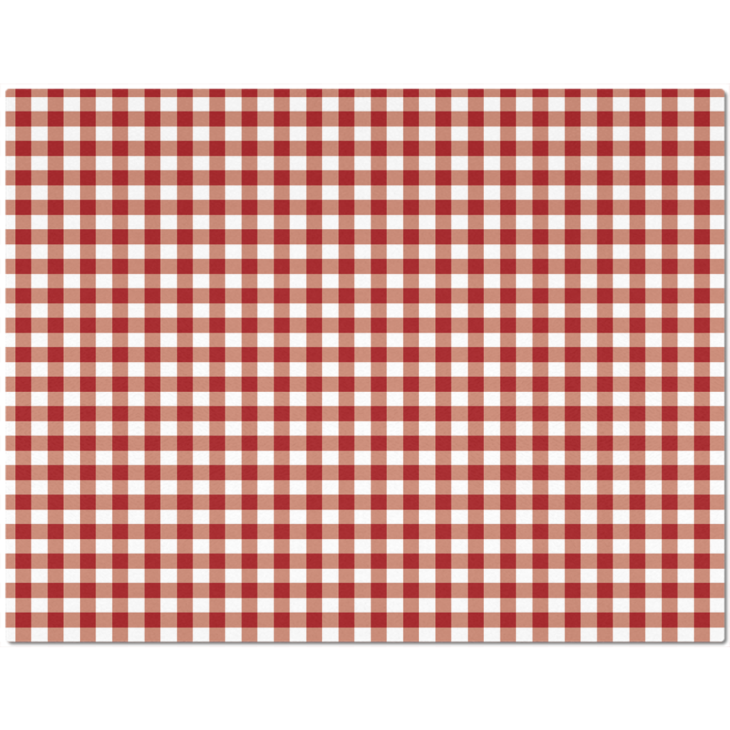 Classic Red Checkered Placemat