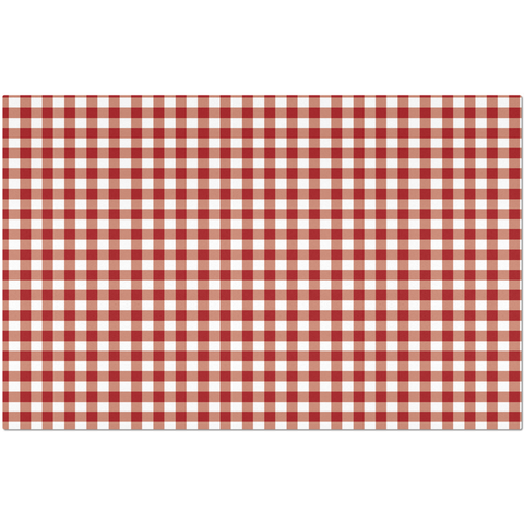 Image of Classic Red Checkered Placemat