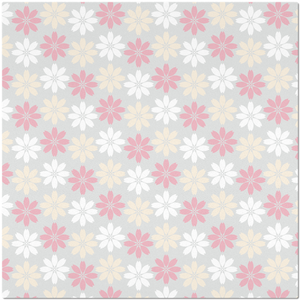 Placemat with Pink Floral Pattern