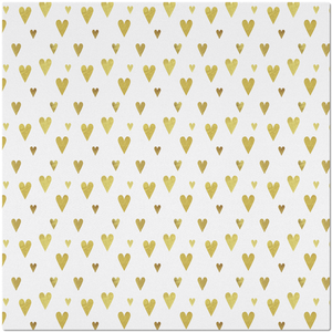 Placemat with Gold Hearts Design