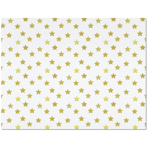Placemat with Gold Stars Design