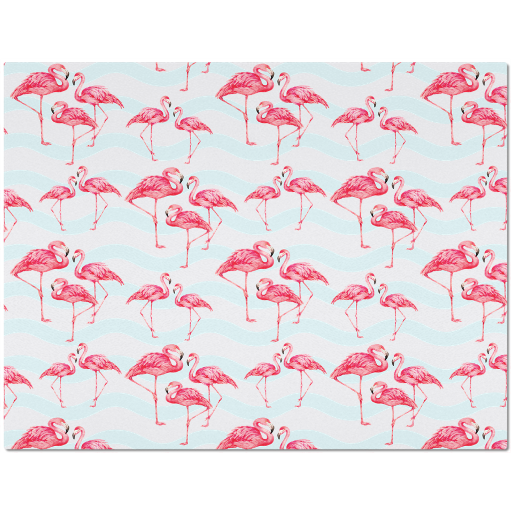 Placemat with Flamingo Pattern Design