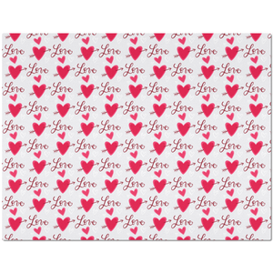 Placemat with Hearts and LOVE Pattern