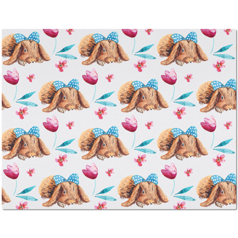 Placemat with Cute Rabbit Design