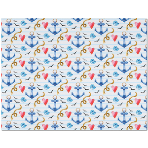 Placemat with Nautical Anchor Pattern